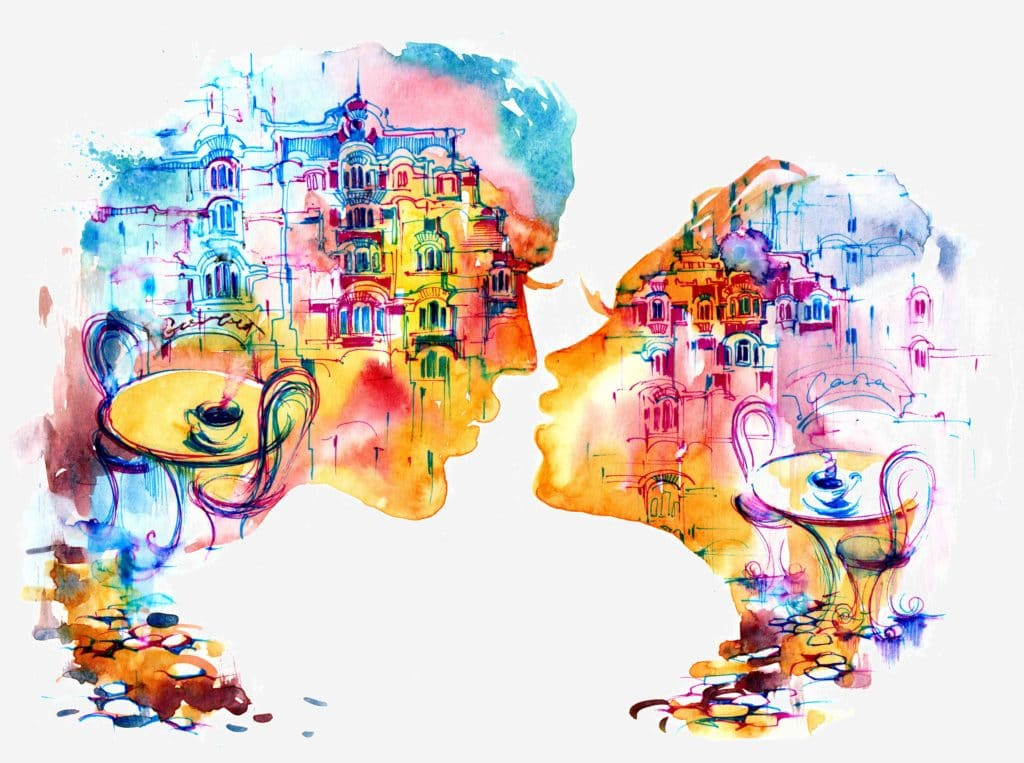 Twin Flames In Love Abstract